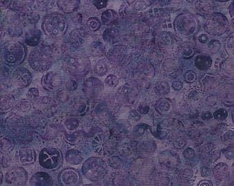 Purple Buttons Batik Quilt Fabric, 100 Percent Cotton, by Island Batik, Fabric by the Yard