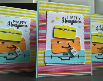 Wedding Card, Honeymoon Gift, Happy Honeymoon Card, Bon Voyage Card, Congratulations on Your Wedding