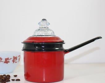 Enamelware 1 Cup Coffee Pot