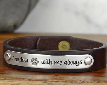 Pet Loss Gift Dog Sympathy Gift, Pet Loss Bracelet Pet Memorial Bracelet, Dog Lover Gift, Pet Memorial Jewelry Made in USA