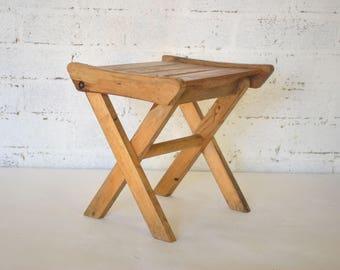 Vintage Childu0027s Fold Up Wooden Stool & Folding stool | Etsy islam-shia.org