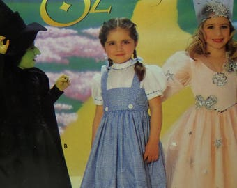 WICKED WITCH Pattern • Simplicity 0631 • Girls 3-8 • Glenda • Dorothy Costume • Good Witch • Oz Outfits • Costume Pattern • WhiletheCatNaps