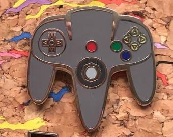 N64 Controller Enamel Pin
