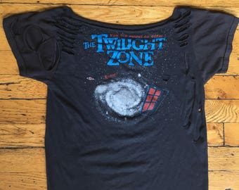 1980's The Twilight Zone modified t shirt