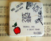 School Teacher, Science Teacher Gift Coaster, Personalized Science Teacher Coaster, Teacher Appreciation Gift, End of the Year Gift