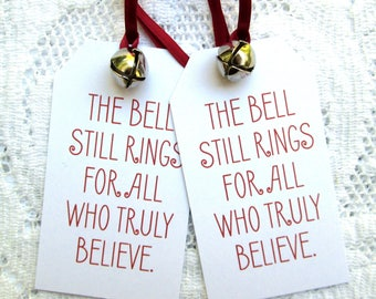 Christmas Tags The Polar Express The Bell Still Rings Tags (12)