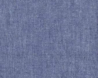 Fabric by the Yard- Chambray in Navy-by Kathy Hall for Andover