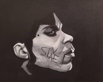 "Cbabi Bayoc: Prince ""SLAVE"" Matted Print"