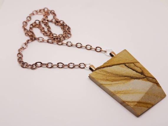 Picture Jasper on Natural Copper Chain