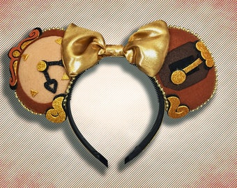 Enchanted Clock Mouse Ear Headband with Bow