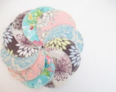 Cloth Nursing Pads--5 Pairs--Beautiful Floral Mix--Fleece/ZorbII/Flannel--Ready to Ship