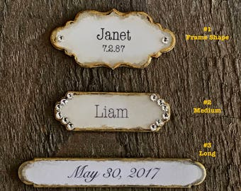 Personalized Plaque Name Plate Personalized Photo Frame Customized Plaque Hand Crafted Plaque Personalized Picture Frame Memorial Plaque