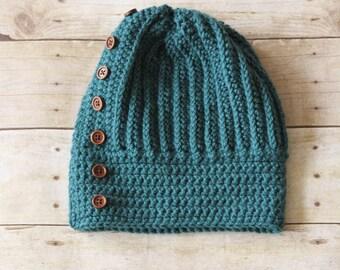 READY TO SHIP - Crochet Hat, Winter Hat, Women's Crochet Hat, Women's Slouch Hat, Teen's Slouch Hat, Fall Fashion, Crochet Slouch Hat