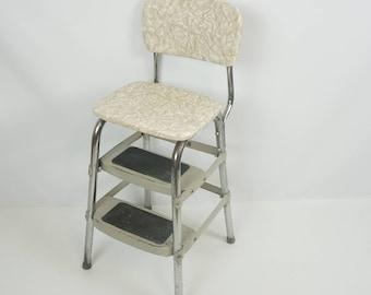 Vintage kitchen step stool / Retro kitchen chair / Cosco style kitchen step stool chair & Kitchen step stool | Etsy islam-shia.org