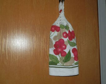 Crochet Hand Towel-Double Towel with Cherries Theme