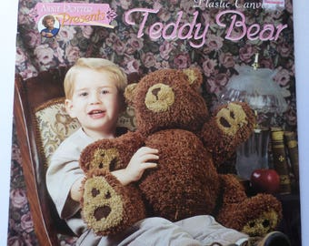 Poseable Plastic Canvas Teddy Bear Instruction Booklet by Annie Potter Presents