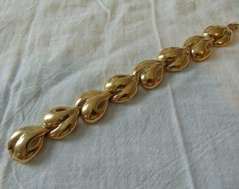 kunio matsumoto bracelet trifari gold plated vintage signed
