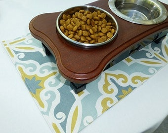 Linens for Pets, Pet Placemat for Dog Bowls, Pet Placemat for Pet, Placemat for Pet, Food Mat for Pet, Dog Food Mat for Pet,