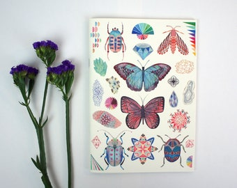 A5 Notebook - Insects and Minerals