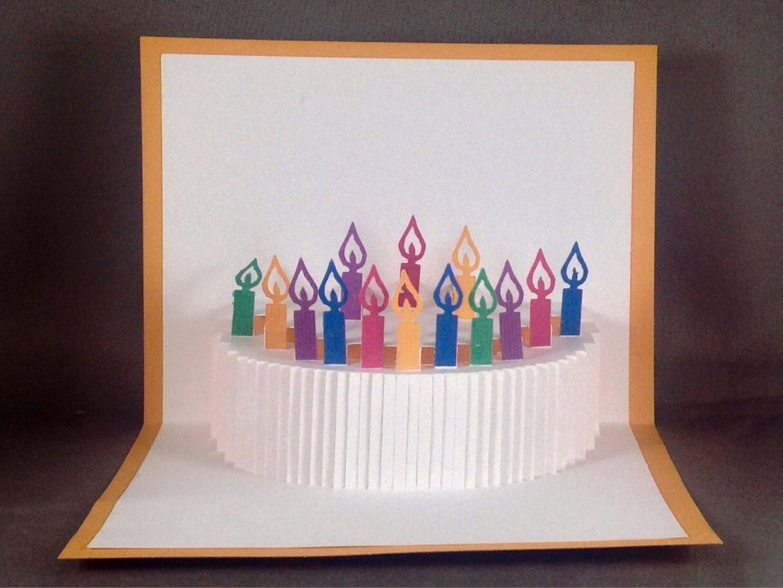 Kirigami 3D Birthday Card Happy Birthday Cake Card – Pop Up Birthday Cake Card