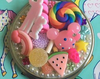 Disney mirror - compact mirror, candy mirror, pocket mirror, purse mirror, bling mirror