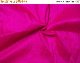 15% off on One yard of 100 percent pure dupioni silk in hot pink/fuschia pink