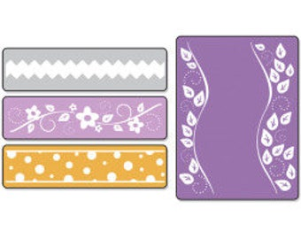 Sizzix Textured Impressions Embossing Folders 2PK - DOTS, FLOWERS & Rick-Rack Set