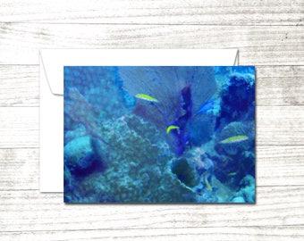 Dive Art Set of 10 Note Cards | Underwater Art Greeting Cards | Scuba Diver Gift | Greeting Card Set