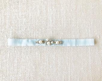 ALEXIS - Something Blue Wedding Bridal Garter