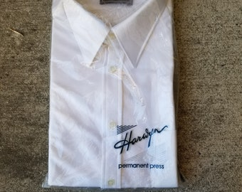 New / Old Stock Harwyn Permanent Press Collard Shirt