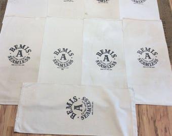 9 Pack Vintage Bemis Sacks  0125181