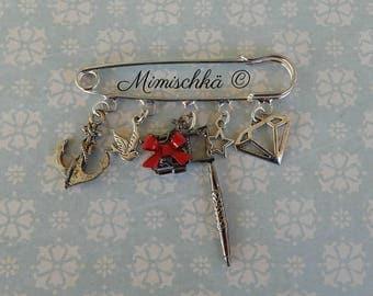 brooch tattoo machine pin up rockabilly anchor