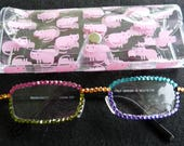 Small Lens Custom Reading Glasses Swarovski Crystal You Design! Free Shipping