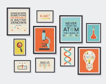 Science Printable, Nursery Printables, Chemistry Gallery Wall, Learning, School, Atom, Scientific, Funny Art, Educational, INSTANT DOWNLOAD