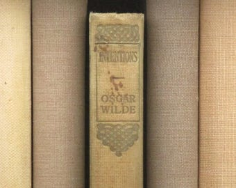Oscar Wilde stories, Intentions, antique book, vintage 1910s book