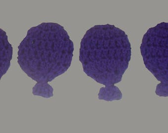Eco Friendly, Reusable 2-D Water balloons. Hand crocheted set of 4.