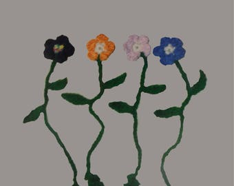 Hand Crochet Flower Book Marker. Posey Page Marker. Set of 3. Gift set.