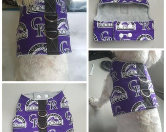Small Breed Dog Vest Harness, Colorado Rockies Dog Vest Harness for Small Breed Dogs or Cats (pls check the size before order)