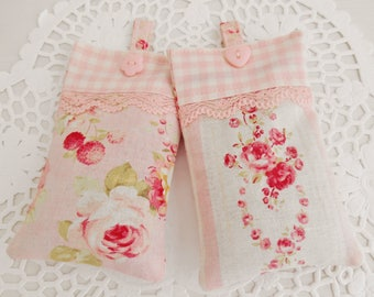 Set Of Two Shabby Chic Style Lavender Sachets/Drawer Sachets