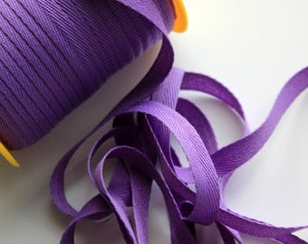 """3/8"""" Polyester Twill Tape - Lavender - 5 yards"""