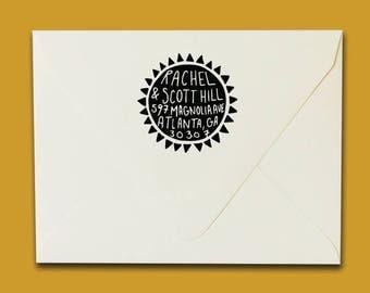 Sun Address Stamp