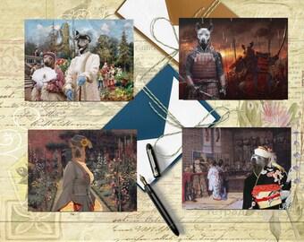 Thai Ridgeback Art, Thai Ridgeback Postcard Set, Thai Ridgeback Greeting Card Set, Thai Ridgeback Sticker, Thai Ridgeback Vinyl Decal