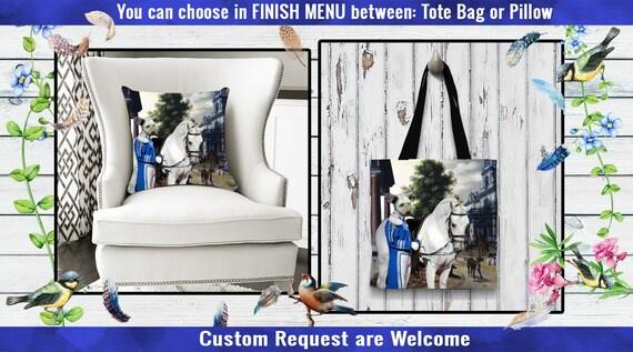 Pumi Pillow/Pumi Tote Bag/Pumi Art/Dog Tote Bag/Dog Pillow/Pumi  Portrait/Custom Dog Portrait/Custom Dog Pillow or Tote Bag/Personalized Dog