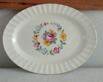 Edwin Knowles Rose Floral Platter