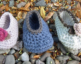 Crochet Pattern for Rose & Stripey Bootee