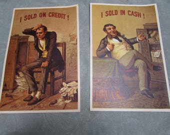 Vintage Photos  I Sold on Cash and I Sold on Credit