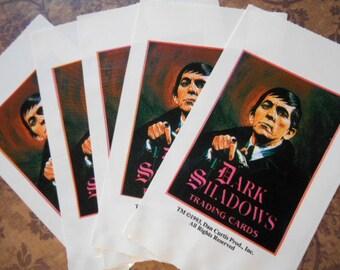 5 Vintage Dark Shadows Trading Card Wrapers Bags