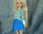 iMda 3.0 BJD linen skirt - blue