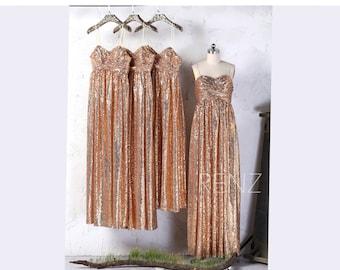 Beige Sequin Wedding Dress