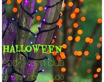 Halloween: One month sock yarn club by Star Fiber Studio